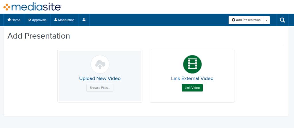 Media Page Screenshot