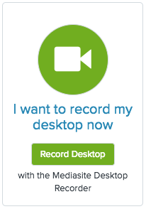 I want to record my desktop now