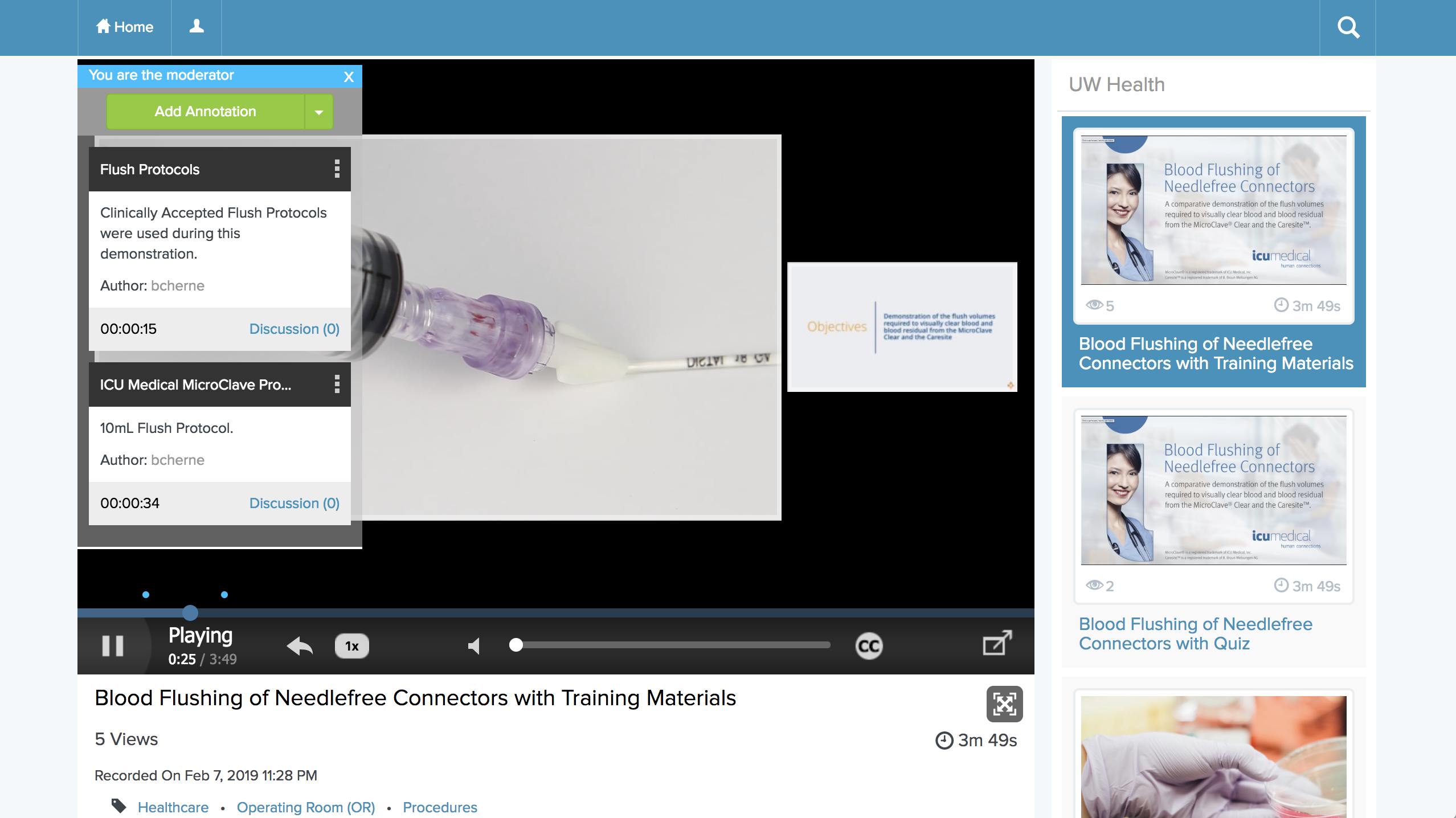 Annotate a Mediasite Presentation from Within Canvas LMS by Instructure
