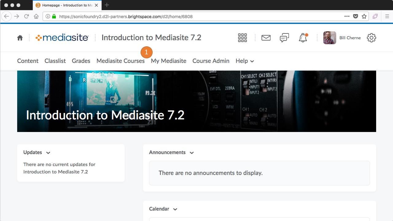 Brightspace - click My Mediasite
