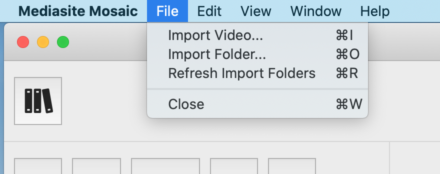 Import Dropdown