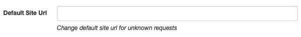 Site URL Redirect